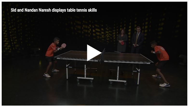Sid and Nandan Naresh display table tennis skills
